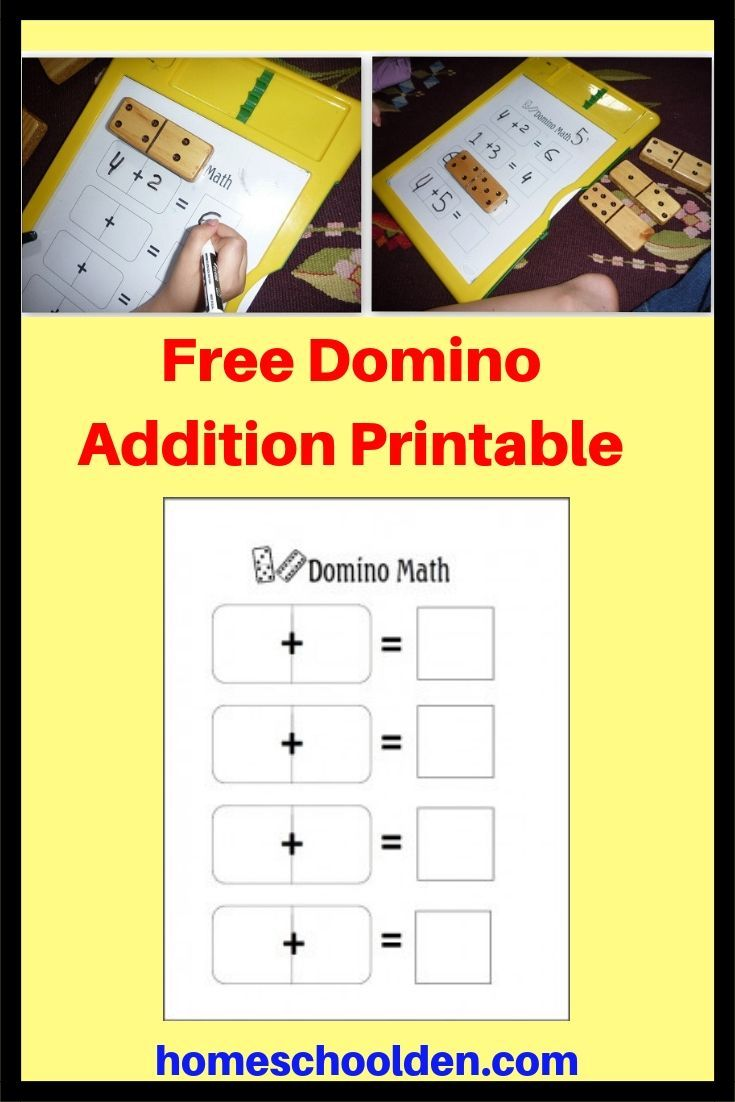 Free Math Dominoes Printable This Is A Free Printable For Using Dominoes For Addition Practice F Free Math Free Homeschool Curriculum Free Math Worksheets [ 1102 x 735 Pixel ]