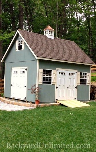 14x16 two story garden shed with transom windows in doors 30x36 windows cupola and ramp httpwwwbackyardunlimitedcomshedsphp pinterest