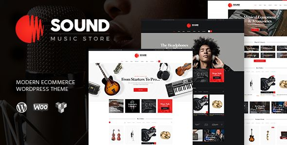 Music Place   Musical Instruments Online Store It's a premium quality theme specially designed for online music stores, stores of musical instruments, recording studios, DJ's or any other eCommerce site.