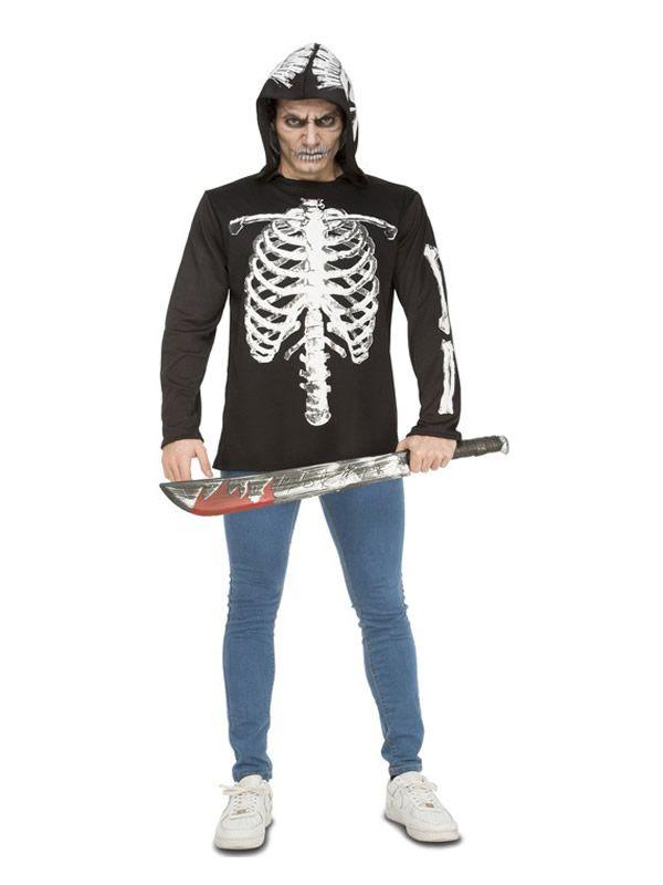 Queréis Comprar Un Disfraz Camiseta De Esqueleto Casual Para Hombre Barato En Disfracesmimo Com Somos Los Más Baratos Y Al Mejor Precio Tu Tienda De Disfrac