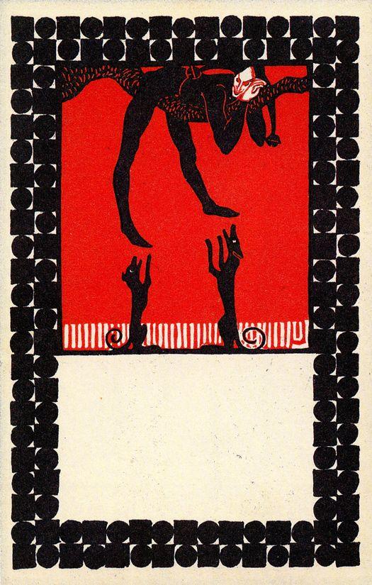 ART & ARTISTS: Wiener Werkstätte postcards –Postkarte no. 18 Urban Janke, Til Eulenspiegel