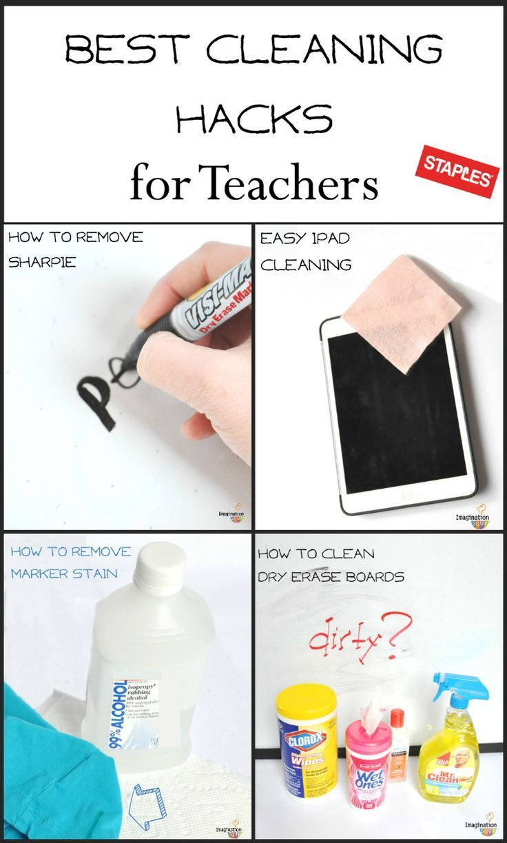 Best Classroom Cleaning Hacks - I forgot about nail polish remover for permanent marker!