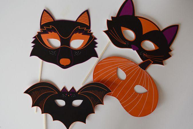 les 25 meilleures id es de la cat gorie masque halloween a imprimer sur pinterest masque en. Black Bedroom Furniture Sets. Home Design Ideas