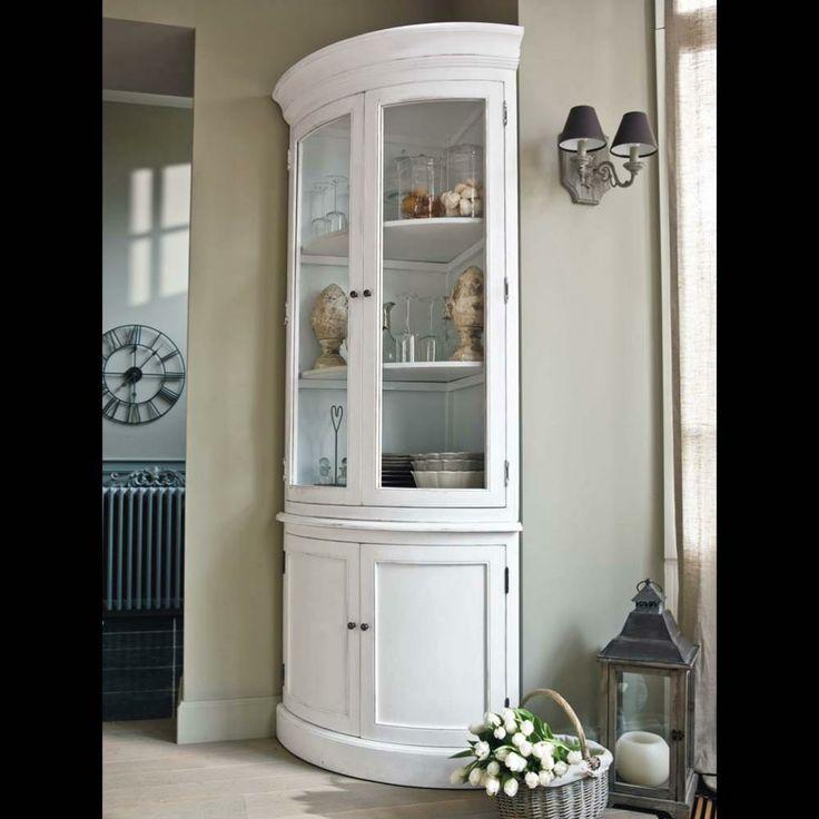 meuble d 39 angle en bois blanc l 68 cm en 2019 un salon. Black Bedroom Furniture Sets. Home Design Ideas