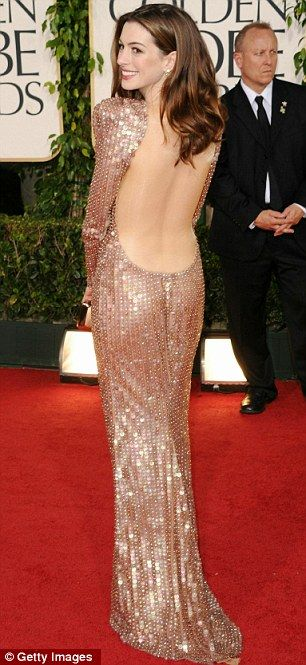 Anne Hathaway in Armani Privé at the 2011 Golden Globes, January 2011