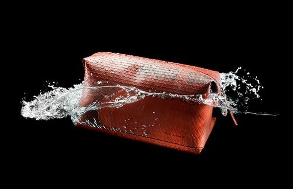 Wash Bag made from a fire hose.