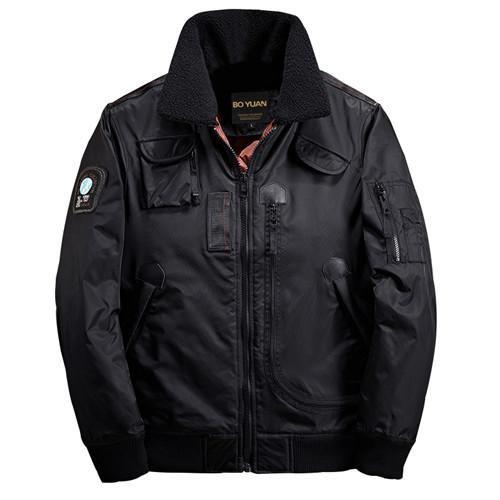BOYUAN Bomber Jacket Men Warm Outwear Winter Jacket Men Brand Thick Warm Men Coats Parka New Casual Solid Polyester Coat DSW2527