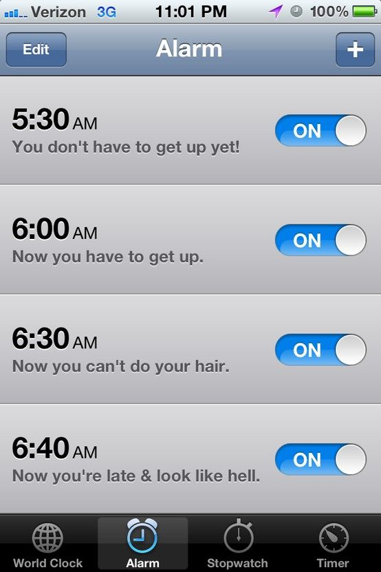 This is so me!!  Maybe I'll be a morning person someday when I grow up  :)  #Funny #Alarm #Clock