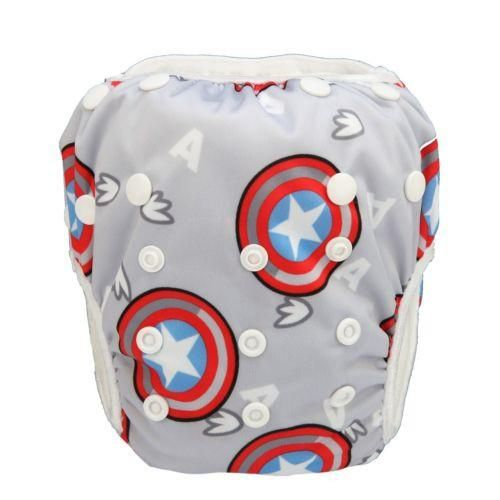 """Swim Diaper """"Capt America"""""""