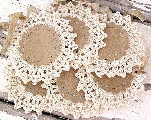 Vintage Crochet Gift Tags