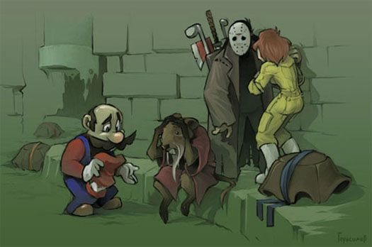 Mario's Mistake: Geek, Fan Art, Tmnt, Funny, Humor, Video Games, Mario Bros, Ninja Turtles