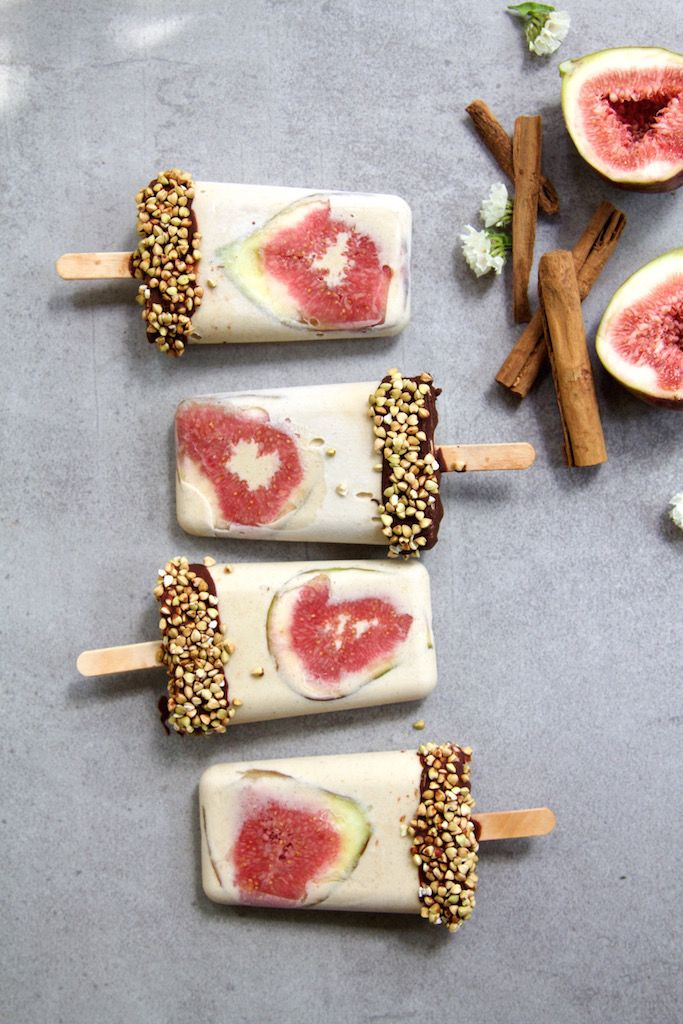 CARAMELISED BANANA & FIG ICE CREAMS (Dairy free)