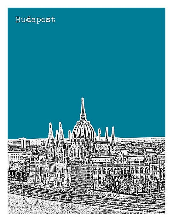 Budapest Hungary Poster City Skyline Art Print by AnInspiredImage