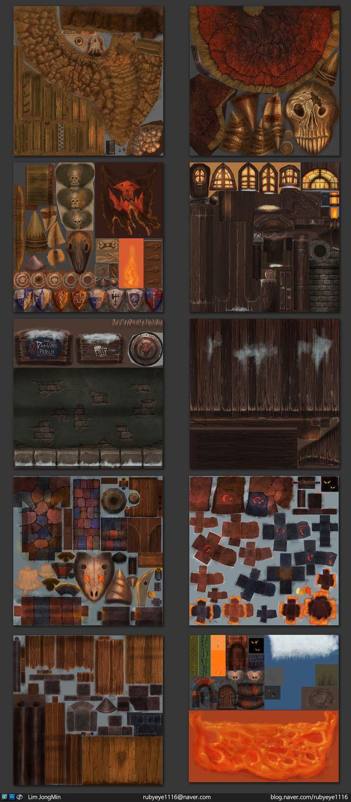 textures, JongMin Lim on ArtStation at https://www.artstation.com/artwork/9B5Ba