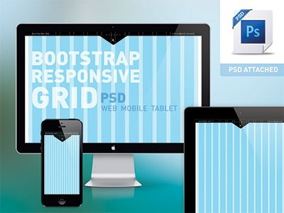 Bootstrap responsive grid PSD - Mobile, Tablet, Web - Free by michael henning