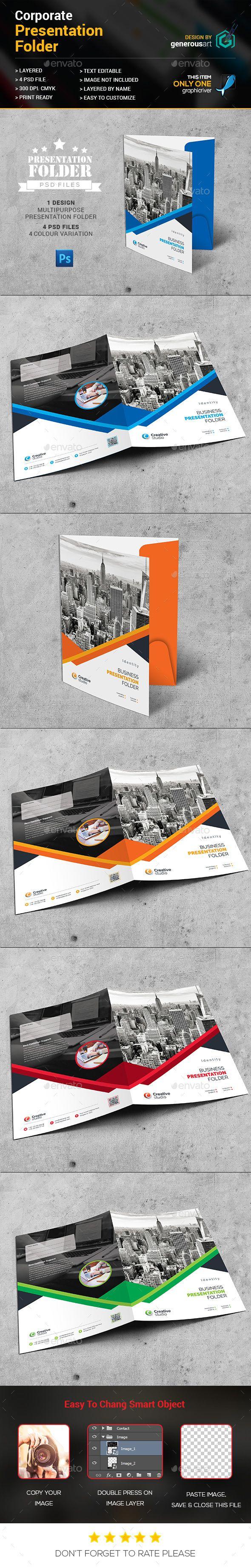 Best Presentation Folders Printed Folders Images On Pinterest - Fresh presentation folder template psd design