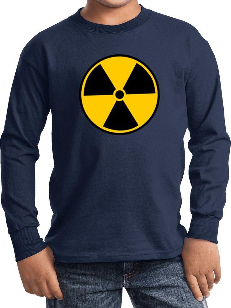 Kids radiation tshirt radioactive fallout youth long