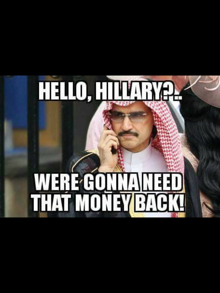 """Killery """"sold"""" the U.S. to those Middle Eastern tyrants... but she lost, so she can't hand our country over now. Hmmmm... ~@guntotingkafir"""