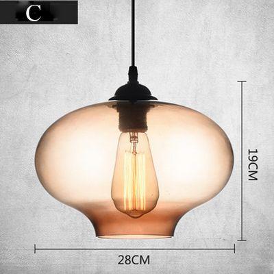 Milti kleuren Creactive Vorm Glas Hanglampen Art Deco. hanger Lampen Voor Home Verlichting Edison bollen 110 V/220 V
