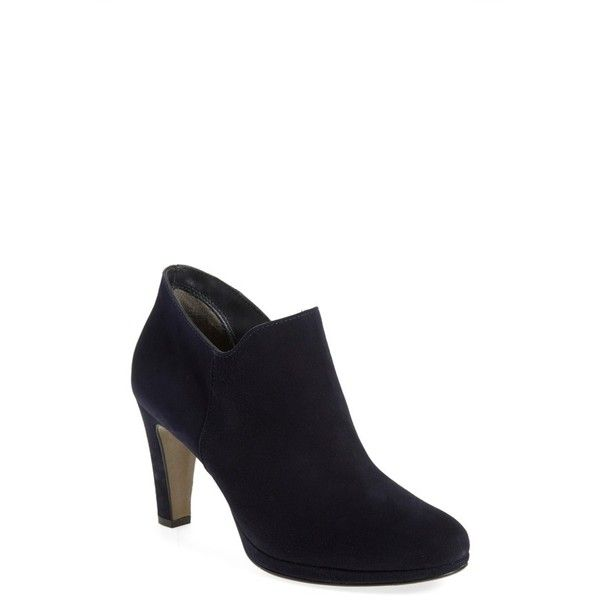 Women's Paul Green 'Jazzy' Bootie (345 AUD) ❤ liked on Polyvore featuring shoes, boots, ankle booties, blue suede, suede boots, platform boots, suede bootie, bootie boots and ankle boots