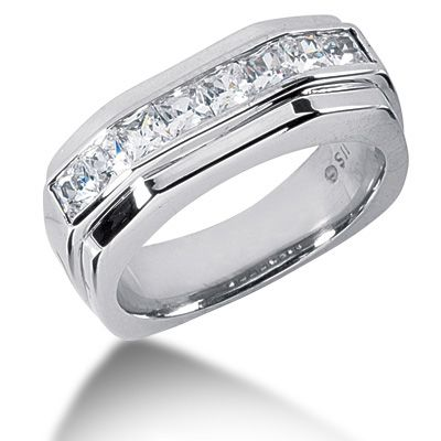 1.36 CT. MEN'S DIAMOND WEDDING BAND @ $2,770.00 http://www.soharidiamonds.com/