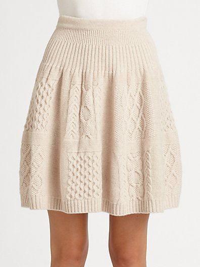 I have a certain lover of skirts in my house that would be drooling over this sweater skirt if it showed up under the tree.