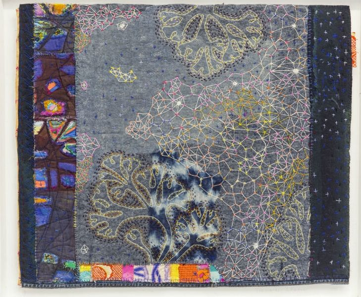 Louise Baldwin: Two Worlds 2 Foto: Website Knitting & Stitching Show