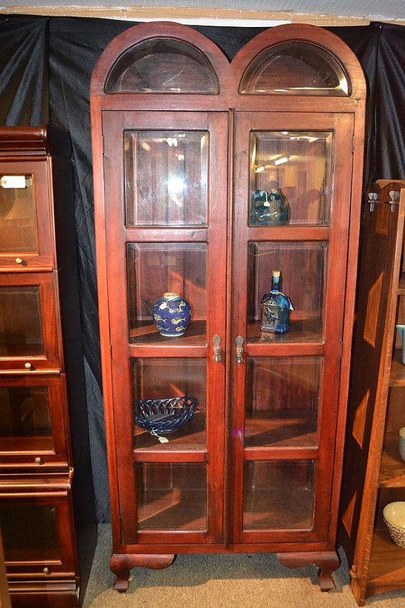 Luxury Mahogany Corner China Cabinet