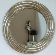 Round Twist Mirror Champagne Silver 110cm