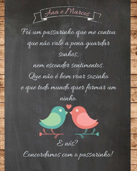 Chalk Frase - Casamento/Chá                                                                                                                                                                                 Mais