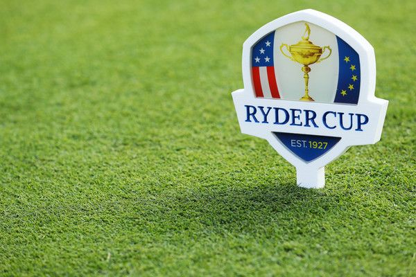 A Ryder Cup marker is seen during the 2016 Ryder Cup Captains Matches at Hazeltine National Golf Club on September 29, 2016 in Chaska, Minnesota.
