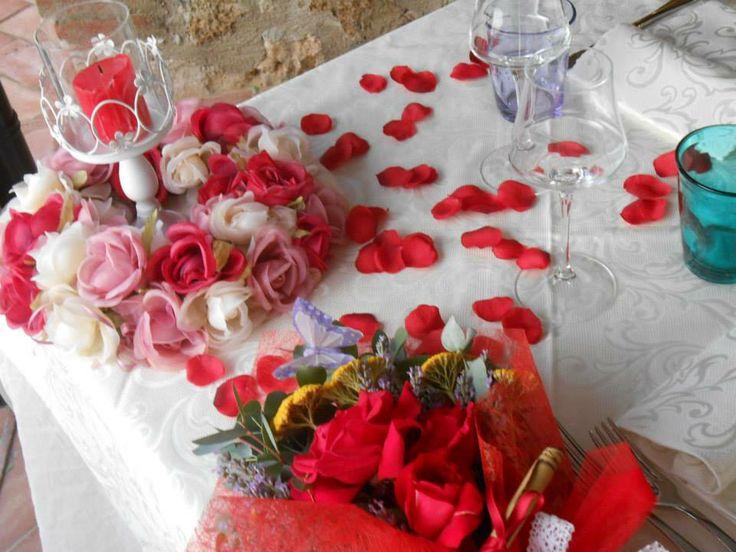 Una cena romantica al ristorante romantico Taverna di Bibbiano, tra Colle di val d'Elsa e San Gimignano (Siena), a mezz'ora da Siena, a 45 minuti da Firenze.