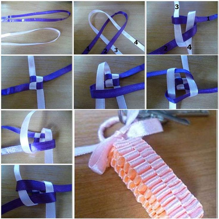 DIY Pretty Braided Ribbon Keychain | iCreativeIdeas.com Follow Us on Facebook --> https://www.facebook.com/icreativeideas