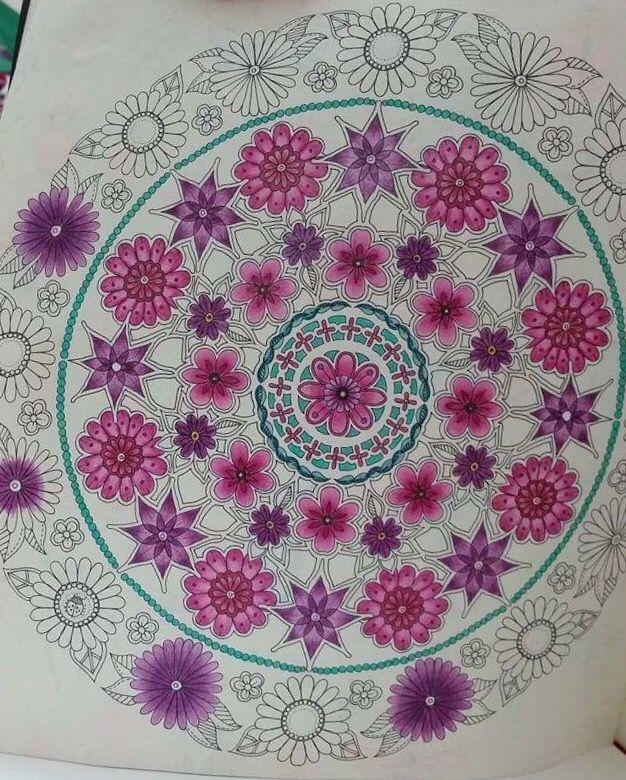 Mandala Circle Secret Garden Circulo Jardim Secreto Johanna Basford BasfordColoring BooksTherapyMandalasVintage