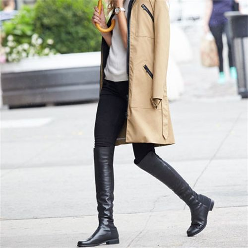 International best seller and iconic over-the-knee boot, the 5050 has a uniquely stylish design of micro stretch and nappa leather or kidskin suede. The elasticized micro allows for a sleek look and the ultimate stretch to fit most legs. Coveted by Hollywood's chicest starlets