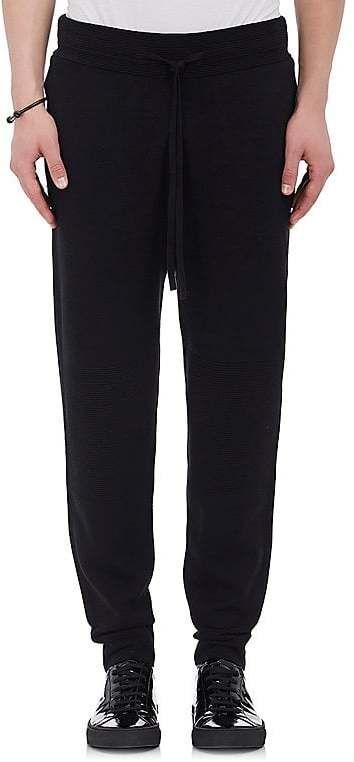 Helmut Lang Men's Ottoman-Stitched Cotton-Blend Slim Jogger Pants
