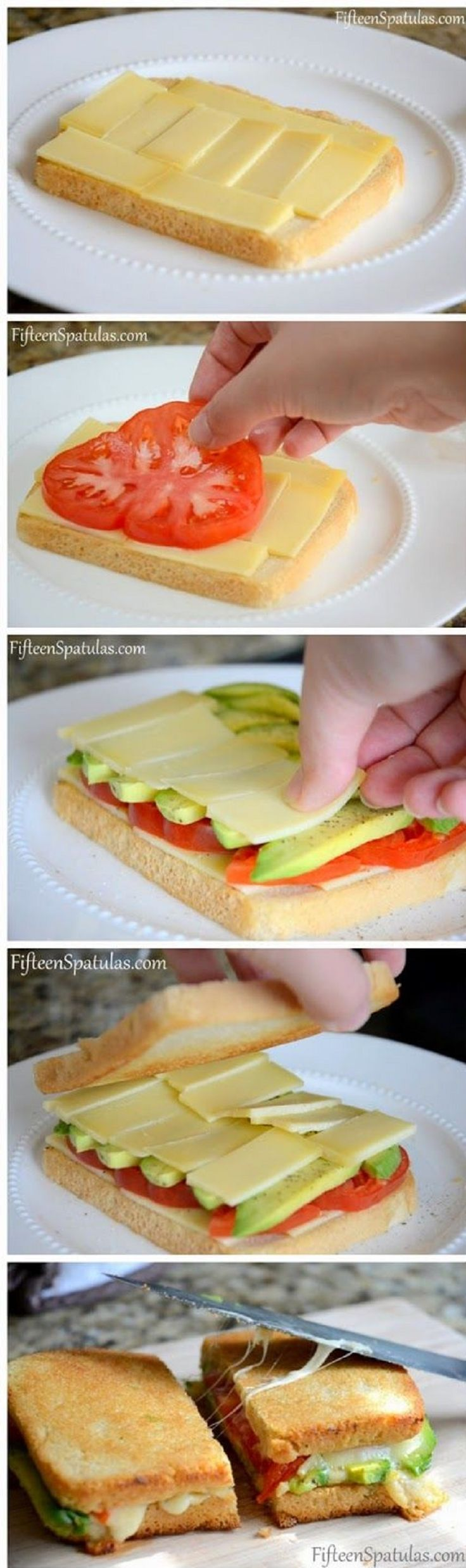Grilled Cheese with Avocado and Heirloom Tomato - 16 Healthy Spring Recipes for Kids   GleamItUp