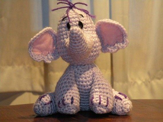 When I learn how to crochet I'll buy this cute Heffalump pattern.: Heffalump Pattern, Crochet Pattern Disney, Knits Crochet, Crochet Animals, Elephant Blankets Crochet, Crafty Crafts, Crochet Heffalump, Diy Projects, Crochet Knits