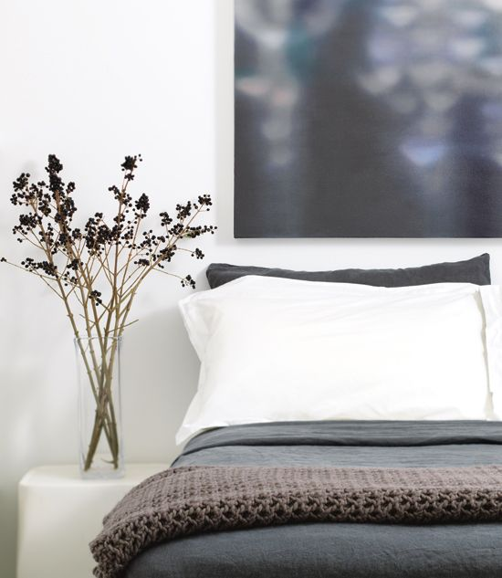 :: BEDROOMS :: simple gray & white #bedrooms