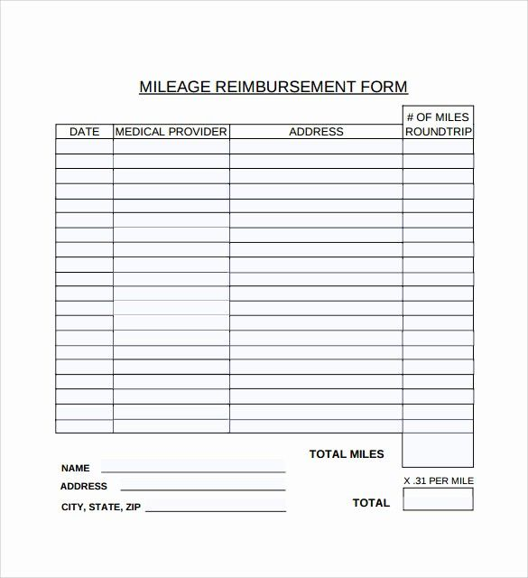 Travel Expense Reimbursement Form Template Beautiful 9 Mileage Reimbursement Form Download For Free How To Memorize Things Templates Invoice Template