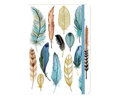 Notizbuch Feathers, 14 x 18 cm