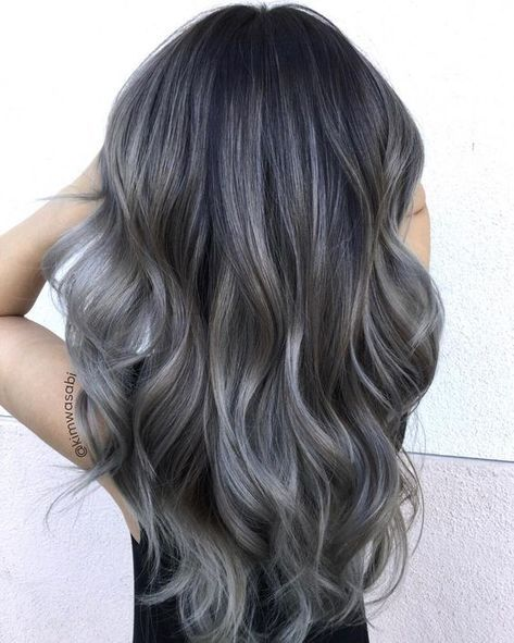 Charcoal hair is the new colour trend we've been waiting for! The smoky shade is both edgy and office appropriate.