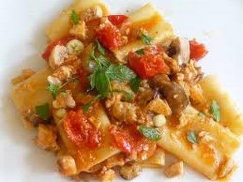 """Guarda """"Ricetta veloce Pasta con sugo di pesce spada e melanzane,Pasta with swordfish and eggplant,"""" su YouTube #saporieodoridicasamia"""