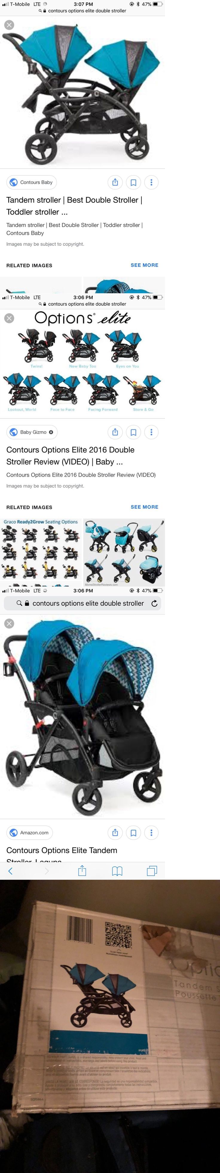 Other Baby Safety and Health 20436: Contours Options Elite Twin Tandem Double Baby Stroller Laguna Brand New -> BUY IT NOW ONLY: $319.99 on eBay!