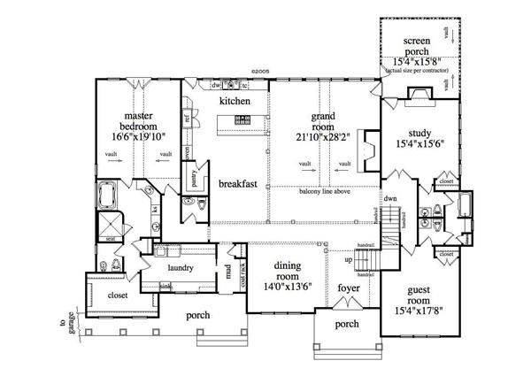 Master Bedroom Connected To Laundry Floorplans Home Plan   Floor Plan First Story