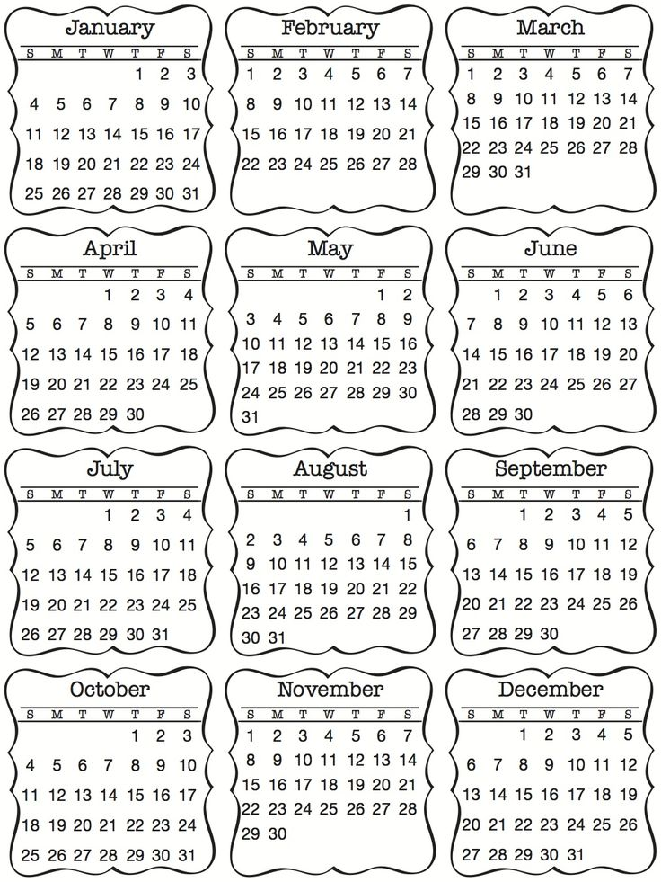 New Product Reveal - Day 1 - Mini Calendars 2015