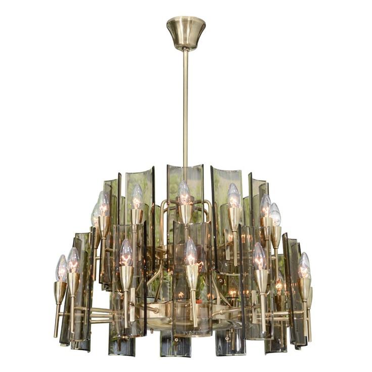 Mejores 67 imgenes de venini en pinterest candelabros luces stunning chandelier in the style of fontana arte aloadofball Images