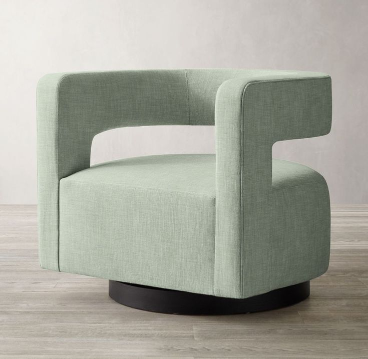 Drew curved swivel chair in 2020 swivel chair chair