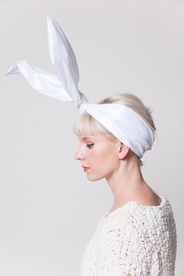 DIY rabbit ears for Halloween