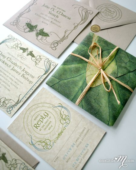 Inspired by the vibrant world Tolkien created for the Lord of the Rings trilogy, this uniquely earthy design features an inner envelope printed on veined leaf paper and motifs that reflect the rich...